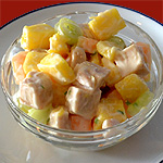Cantaloupe and Chicken Salad with Chive Dressing