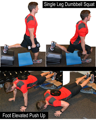 WeBeFit com Articles - The Dumbbell Squat and Push up, Improved